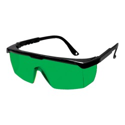 Laser enhancement glasses, green