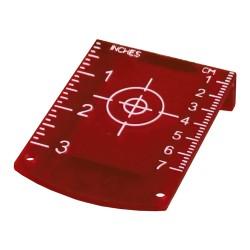 Red laser target