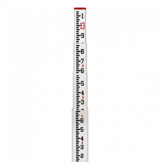 13-ft Fiberglass Leveling Rod (CR-type), 10ths