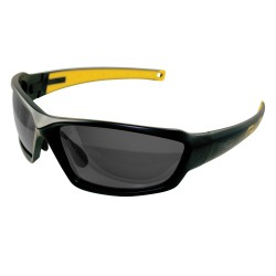 Reisling Black Safety Glasses, Smoke Polarized