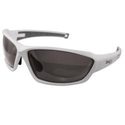 Reisling White Safety Glasses, Smoke Polarized