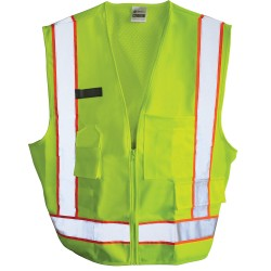 500 Construction Hi-Vis Lime Safety Vest