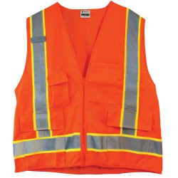 500-OR Construction Hi-Vis Orange Safety Vest