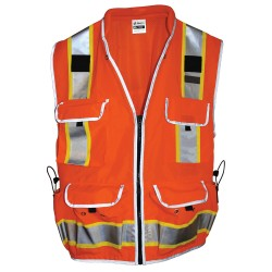550-OR Surveyors Hi-Vis Orange Safety, Class 2