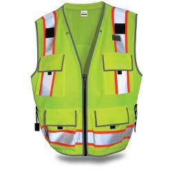 550 Surveyors Hi-Vis Lime Vest, Class 2