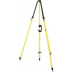 Fixed-Height GPS Antenna Tripod with 2 m Center Staff - Standard Yellow