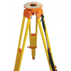 Birch wood/Fiberglass Quick Clamp Hybrid Tripod - Orange