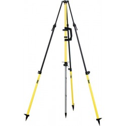 Graduated Collapsible GPS Antenna Tripod - Standard Yellow