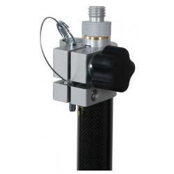 Robotics Carbon Fiber, One Section Prism Pole - Metric Grad