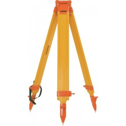 Birch wood/Fiberglass Twist-Lock Hybrid Tripod - Orange
