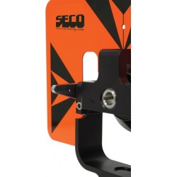 Rear Locking 62 mm Premier Prism Assembly with 6 x 9 inch Target - Flo Orange with Black