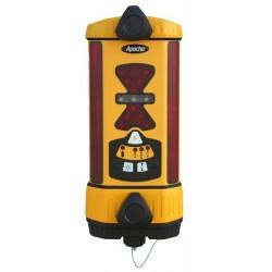 Apache Bullseye 3+ Machine Control Laser Receiver with Alkaline Battery - Yellow