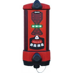 Apache Bullseye 5+ Machine Control Laser Receiver with Rechargeable NIMH Battery - Red